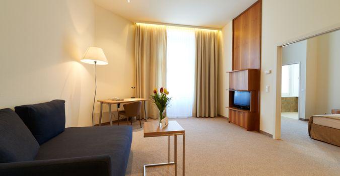 Wohnraum in der Classic Suite